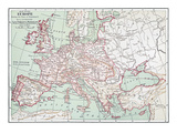 Map Of Europe, C1812 Giclee Print