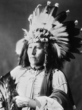Sioux Native American, C1899 Photographic Print by Adolph F. Muhr