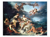Boucher: Abduction/Europa Poster by Francois Boucher