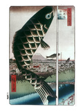 Hiroshige: Kites, 1857 Giclee Print by Ando Hiroshige