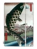 Hiroshige: Kites, 1857, Giclee Print