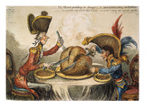 Napoleon Cartoon, 1805 Prints by James Gillray