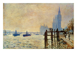 Monet: Thames, 1871 Print by Claude Monet