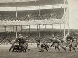 Football Game, 1916 Fotografisk trykk