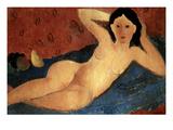 Menzio: Nude With Fruit Giclee Print by Francesco Menzio