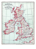 Map: British Isles, C1890 Giclee Print