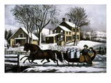 Currier & Ives: Winter Morning Giclee Print by  Currier & Ives