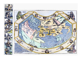 Ptolemaic World Map, 1493 Art