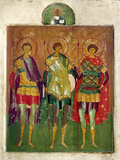 Russian Icon: Saints Photographic Print