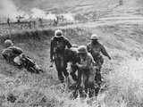 Korean War: Wounded, 1950 Photographic Print
