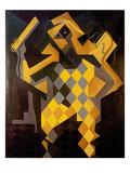 Gris: Harlequin Giclee Print by Juan Gris