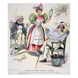 New South Cartoon, 1895 Giclee Print by Louis Dalrymple