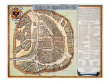 Moscow: Map, 1662 Premium Giclee Print by Jan Blaeu