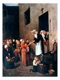 Bonvin: Charity, 1851 Giclee Print by Francois Bonvin