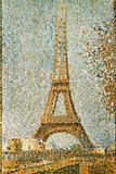 Seurat: Eiffel Tower, 1889 Gicléedruk van Georges Seurat