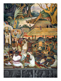 Rivera: Pre-Columbian Life Giclee Print by Diego Rivera