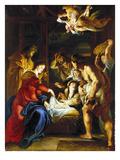 Rubens: Adoration, C1608 Giclée-tryk af Peter Paul Rubens