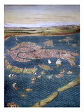 Venice: Map, 16Th Century Giclee Print by Ignazio Danti