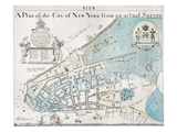New York City Map, 1728 Giclee Print