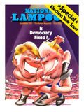 National Lampoon, November 1976 - Is Democracy Fixed Winking Wrestlers Prints