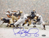 Jerome Bettis Being Tackled vs. Penn State Autographed Photo (Hand Signed Collectable) Photo