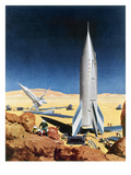 Mars Mission, 1950S Giclee Print by Chesley Bonestell