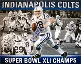 Peyton Manning SB MVP Collage with 3 Inscriptions Photo