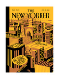 The New Yorker Cover - January 31, 2011 Regular Giclee Print von Frank Viva