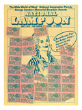National Lampoon, September 1972 - Bonnie Boredom Says: Save Boredom Stamps Prints