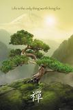Zen Landschaft Kunstdruck