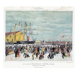 Ice Skaters, C1856 Giclee Print