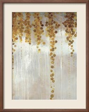 Gold Swirls Print by Lisa Kowalski