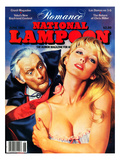 National Lampoon, June 1981 - Romance: Vampires Denture Catch on Woman's Neck Prints