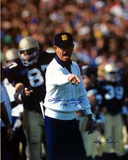 "Lou Holtz Pointing with White Sweater Ken Regan 1 w/ ""1990"" Photographie"