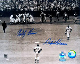 Ralph Branca / Bobby Thomson with Jackie Robinson Vertical Photo
