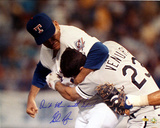 Nolan Ryan vs Ventura w/ Dont Mess with Texas  Autographed Photo (Hand Signed Collectable) Photo