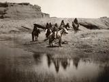 Navajo On Horseback, C1904 Photographic Print by Edward S. Curtis