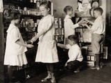School Store, 1917 Photographic Print by Lewis Wickes Hine