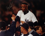 Doc Gooden Yankee No Hitter Carry Off Photographie