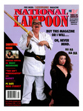 National Lampoon, July and August 1994 - Buy This Magazine Or I Will … Oh, Never Mind. Poster