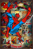 Marvel Comics-Spider Man-Retro Posters