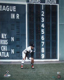 "Carl Yastrzemski Fielding w/ ""HOF 89"" Insc Signed by Photographer Ken Regan Photo"