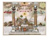 Freemason Emblematic Chart Giclee Print