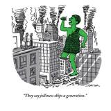 """They say jolliness skips a generation."" - New Yorker Cartoon Premium Giclee Print by Joe Dator"