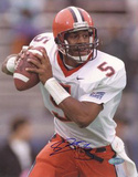 Donovan McNabb Syracuse Vertical Back to Pass Close Up Foto