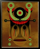 War Mask Framed Giclee Print by Images Monsoon