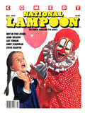 National Lampoon, October 1979 - Comedy: Clown with Balloon Scares Little Girl Giclee Print