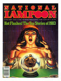 National Lampoon, January 1983 - Hot Flashes, The Psychic Fortune Teller with the Top Stories Art