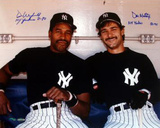 Don Mattingly / Dave Winfield Dugout with Years Inscription Photographie