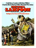 National Lampoon, June 1971 - Religion for Fun and Prophet Issue Poster